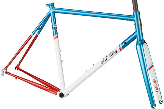 All-City Mr. Pink Frameset Color: Aqua/Red/White