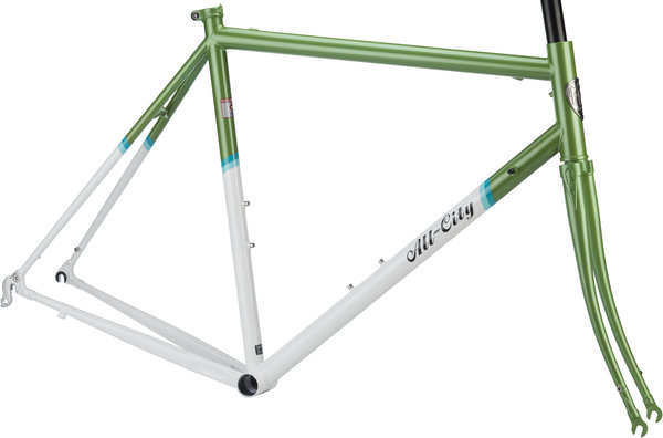 All-City Mr. Pink Frameset Color: Green and White