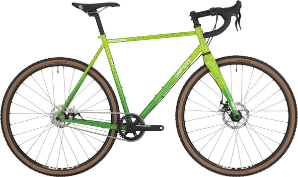 All-City Nature Boy A.C.E. Color: Highlighter Green Spatter