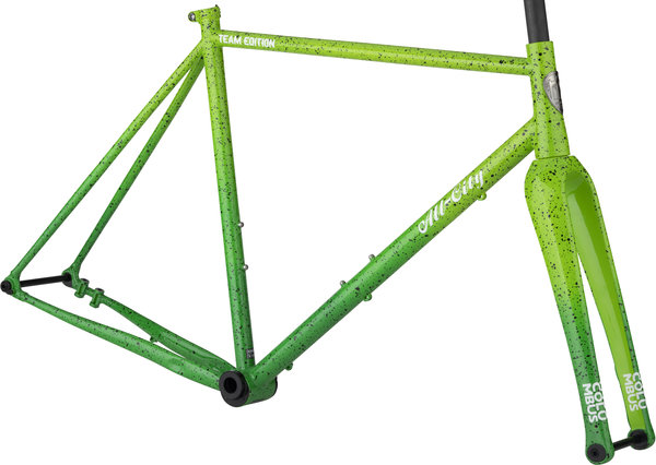 All-City Nature Boy A.C.E. Frameset Color: Green Fade Splatter