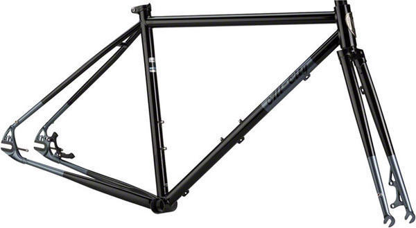 All-City Nature Boy Disc Frameset Color: Black/Dark Gray Tips