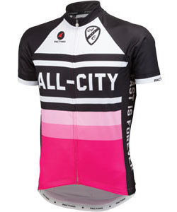 All-City Paglia Rosa Jersey Color: Black/Pink