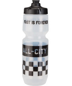 All-City Fast is Forever Water Bottle Color: Translucent