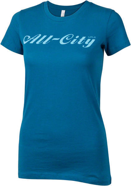 All-City Script Logo T-Shirt Color: Blue