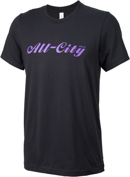 All-City Script T-Shirt Color: Black/Purple