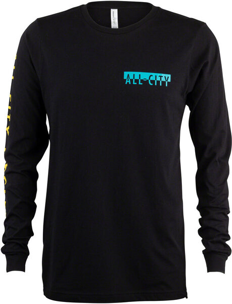 All-City Super Pro Long Sleeve Shirt Color: Black/Red/White/Yellow/Teal