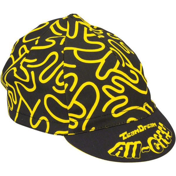 All-City Team Dream Cycling Cap Color: Black/Yellow