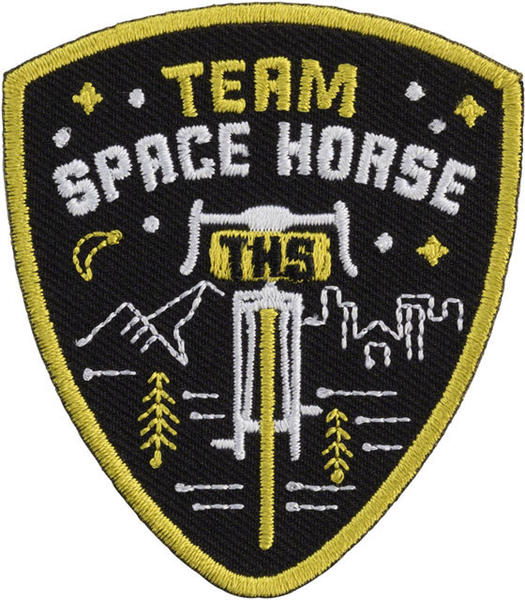 All-City Team Space Horse Patch Color: Black/Yellow