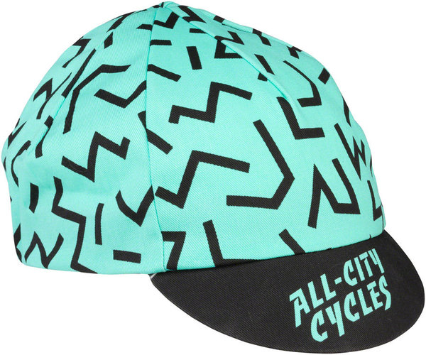 All-City The Max Cycling Cap Color: Black/Mint