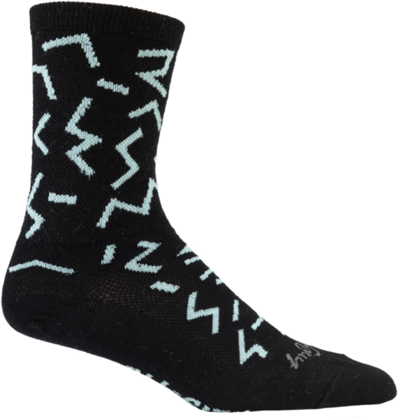 All-City The Max Wool Sock Color: Black/Mint