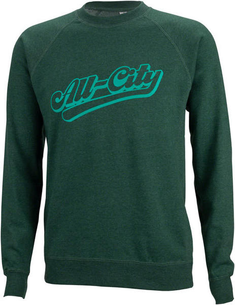 All-City Throwback Crew Sweatshirt Color: Green