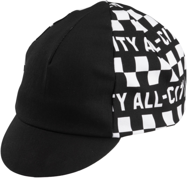 All-City Tu Tone Cycling Cap Color: Black/White
