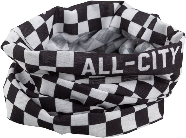 All-City Tu Tone Neck Gaiter Color: Black/White