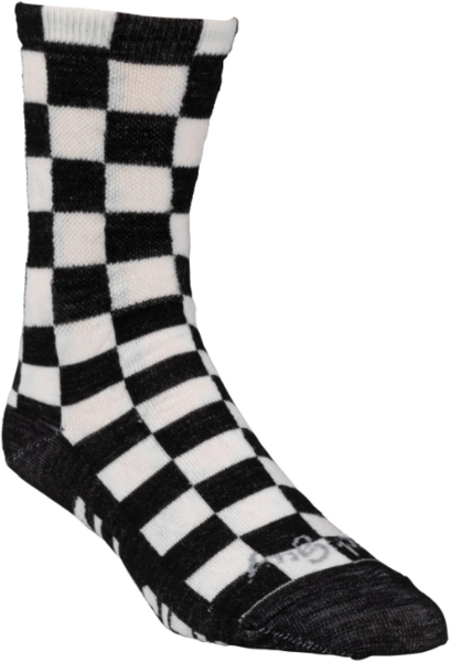 All-City Tu Tone Wool Sock Color: Black/White