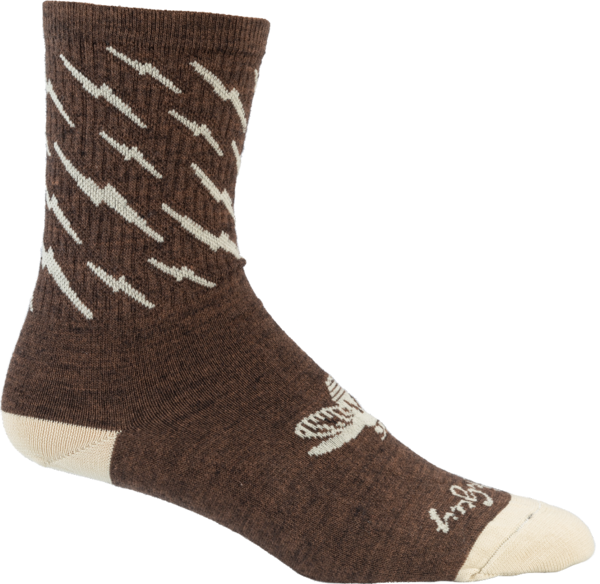 All-City Y'All-City Wool Sock Color: Brown/Tan