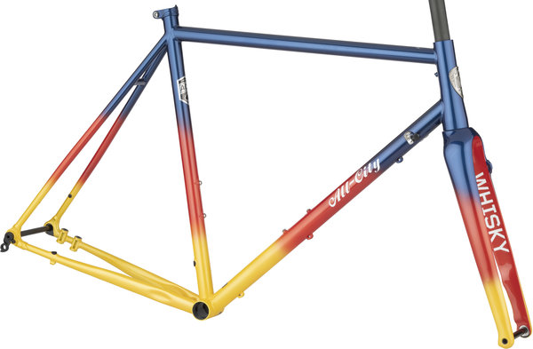 All-City Zig Zag Frameset Color: Sunset Glow
