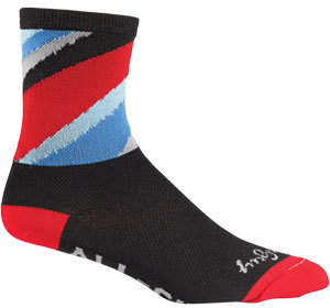 All-City Zig Zag Socks Color: Black/Red/Blue