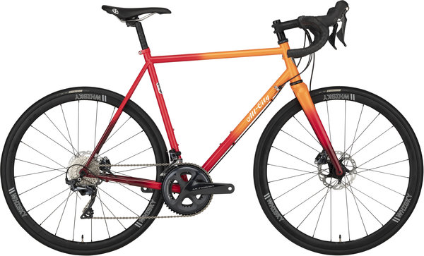 All-City Zig Zag Ultegra Color: Orange/Red Fade