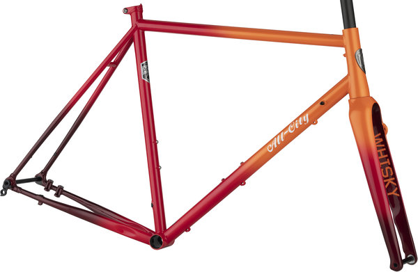 All-City Zig Zag Frameset Color: Orange/Red Fade
