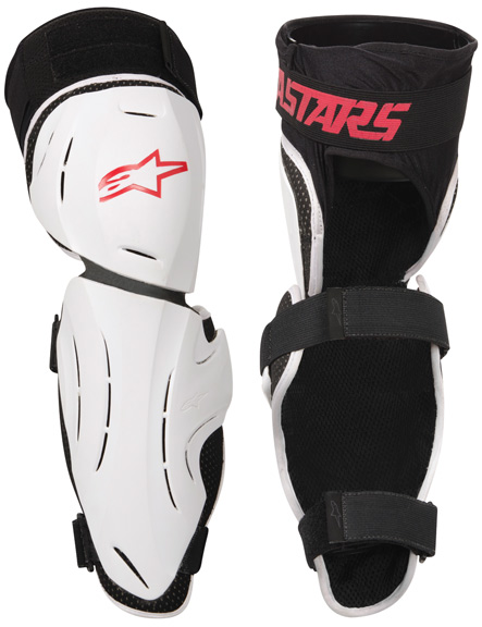 Alpinestars A-Line Knee/Shin Guard Color: Black/White