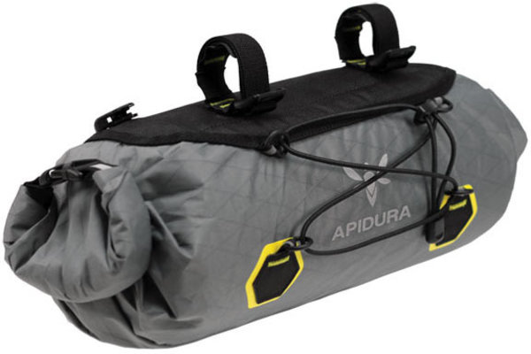Apidura Backcountry Handlebar Pack Color | Gear Capacity: Grey/Yellow | 9L