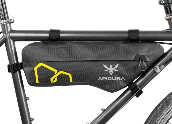 Apidura Expedition Compact Frame Pack Image differs from actual product (bike sold separately)