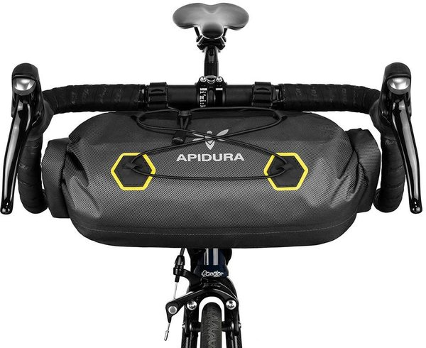 Apidura Expedition Handlebar Pack Image differs from actual product (bike sold separately)