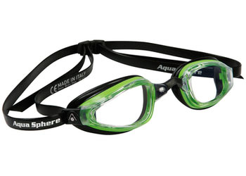 Aqua Sphere K-180+ Goggle Color | Lens: Green & Black | Clear