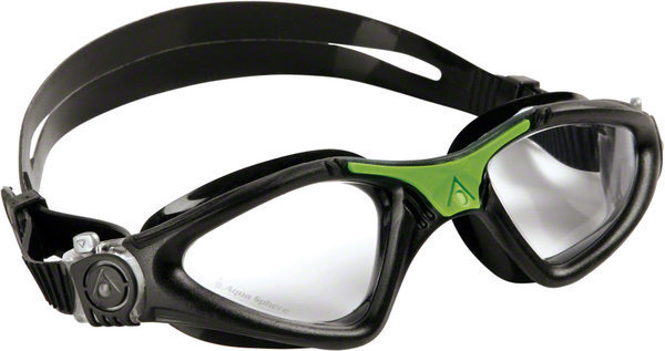 Aqua Sphere Kayenne Goggle Color | Lens: Black/Green Accents | Clear