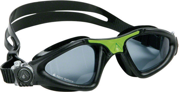 Aqua Sphere Kayenne Goggle Color | Lens: Black/Green Accents | Smoke