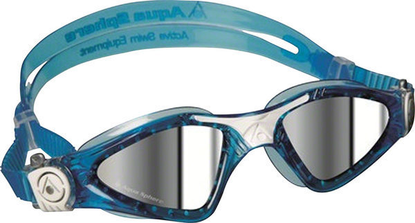 Aqua Sphere Kayenne Small Fit Goggle Color | Lens: Aqua/White Accents | Mirrored