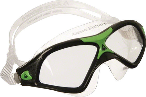 Aqua Sphere Seal XP 2 Mask Color | Lens: Black/Green Accents | Clear