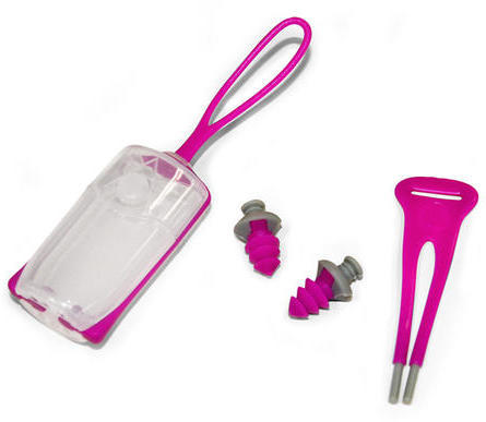 Aqua Sphere Silicone Ear Plugs Color: Pink/Gray