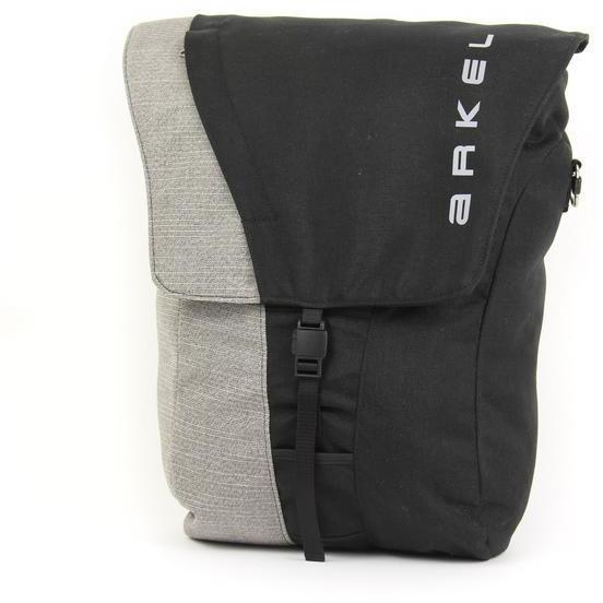 Arkel Commuter Urban Pannier (Unit) Color: Black/Grey
