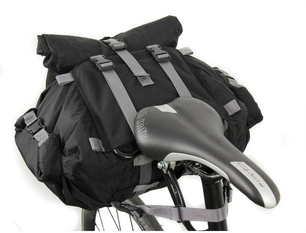 Arkel Rollpacker 15 Bikepacking Seat Bag Color: Black