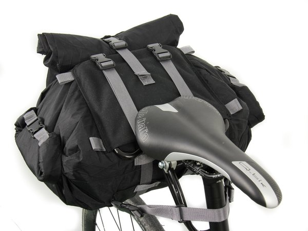 Arkel Rollpacker 15 Rear Bikepacking Bag - Full Kit Color: Black