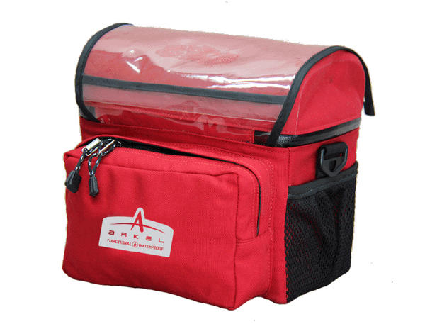 Arkel Handlebar Bag - Small Color: Red