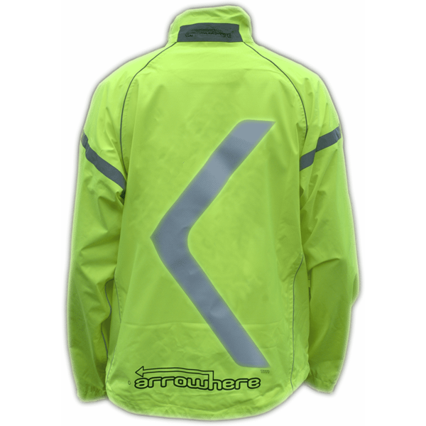 ArroWhere Hi-Viz Waterproof Jacket Color: Day Glo Yellow
