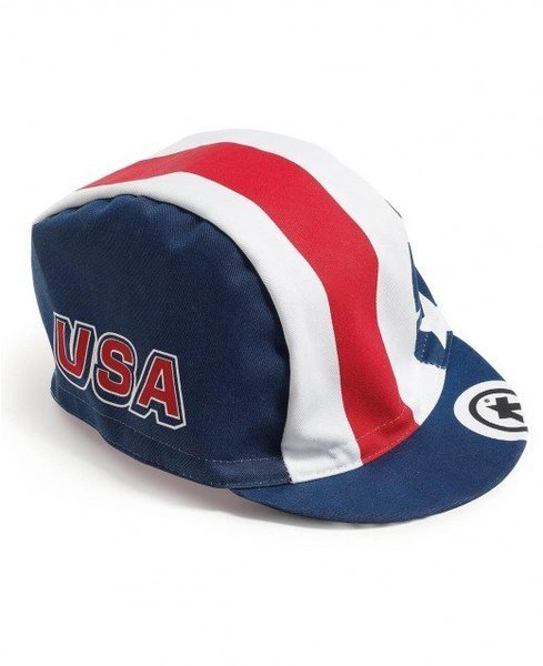 Assos Cap USA Cycling Color: Red/White/Blue
