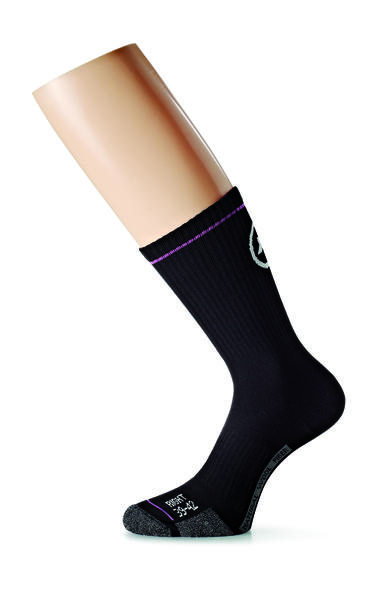 Assos Bonka Sock Evo7 Color: Black Volkanga
