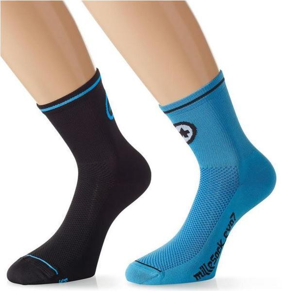 Assos Mille Sock Evo7 Color: Calypso Blue