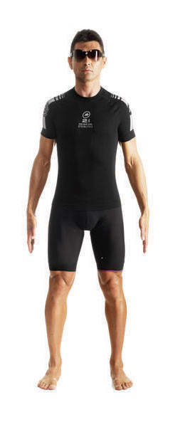 Assos SS skinFoil Spring Fall S7 Body Insulator Color: Blockblack