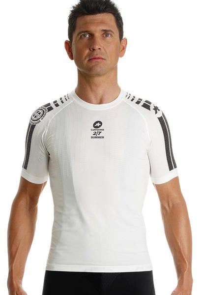 Assos SS skinFoil Summer Short Sleeve Body Insulator Color: White