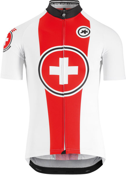 Assos Suisse Fed SS jersey Color: White/Red