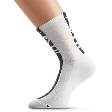 Assos Mille Summer Socks Color: White