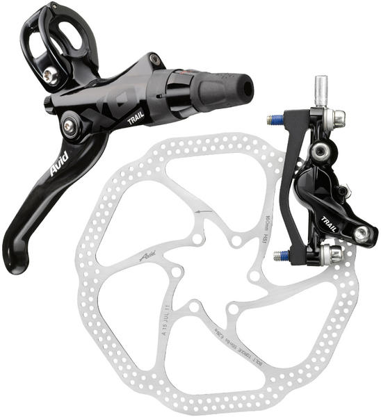 Avid X0 Trail Hydraulic Disc Brake Mounting bracket and rotor sold separately.