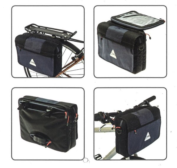 Axiom iTablet Handlebar/Rack Bag Color: Grey/Black