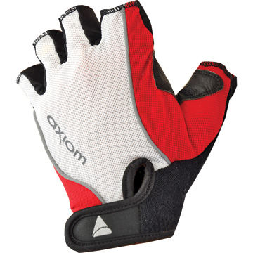 Axiom Zone DLX Gel Gloves Color: White/Red
