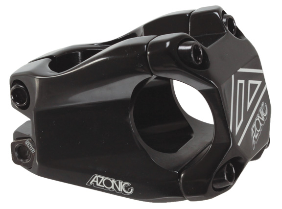 Azonic Baretta II Stem Clamp Diameter | Color | Length | Rise | Steerer Diameter: 31.8mm | Black | 40mm | 15° | 1-1/8-inch