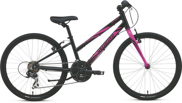 Specialized Girl's Hotrock 24 Street (21-Speed) Color: Black